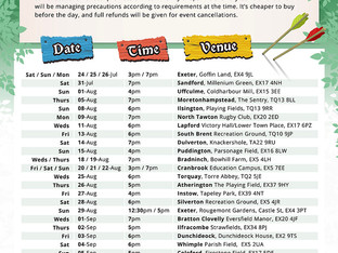 Tour dates for Common Player summer tour