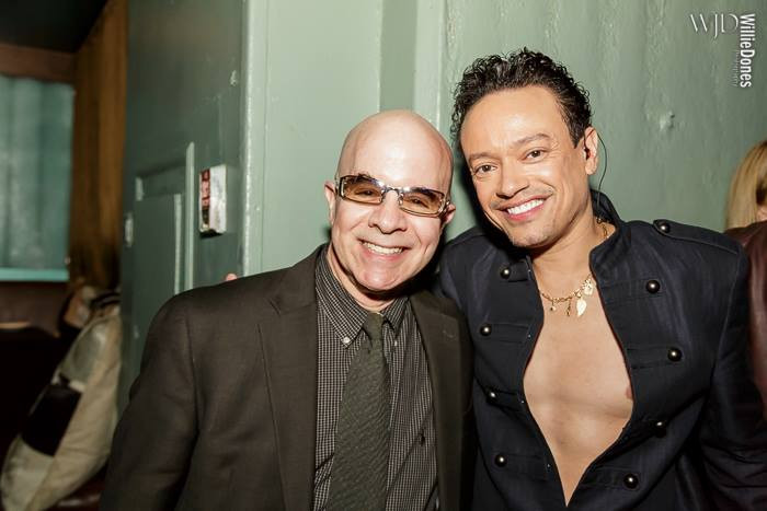 Javier Luis and manager Larry Abramsky