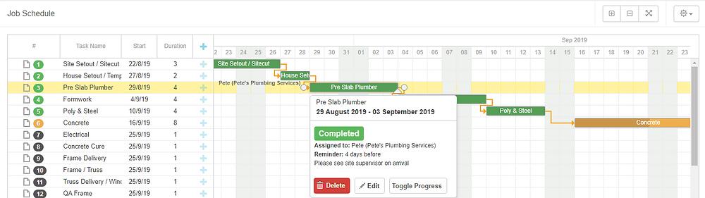 Buildxact Schedule