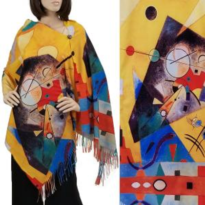 Colorful Yellow Abstract Magic Scarf