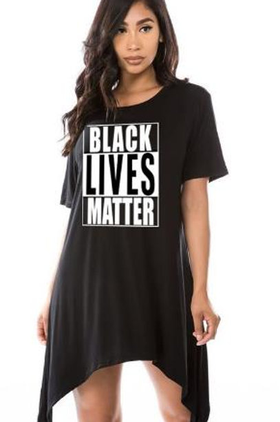 Black Lives Matter Black/White Tee Tunic