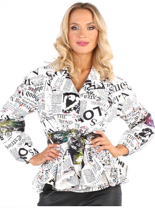 Newspaper Jacket W/Embellishments