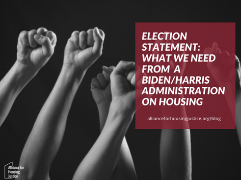 Election Statement: Housing in a Biden/Harris Administration