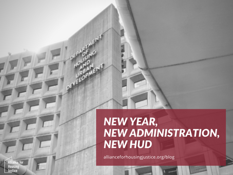 New Year, New Administration, New HUD