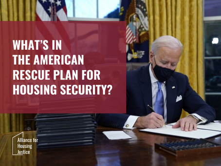 What's in the American Rescue Plan for Housing Security?