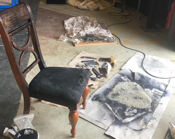 BTS - Creating the burnt set