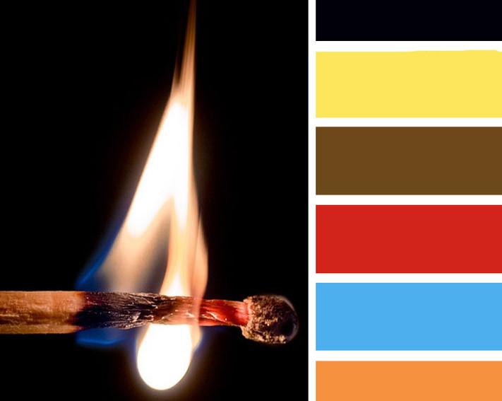 """""""Virginia"""" fire colour palette"""