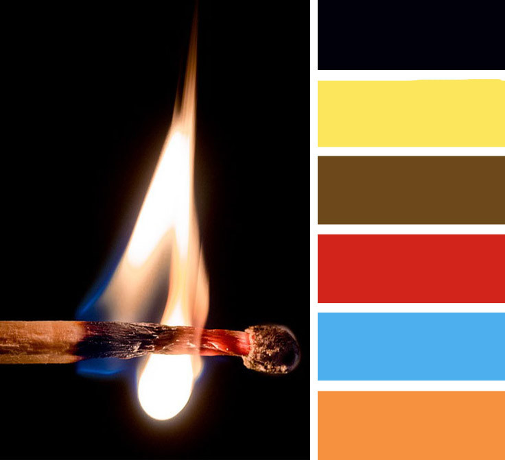 """Virginia"" fire colour palette"
