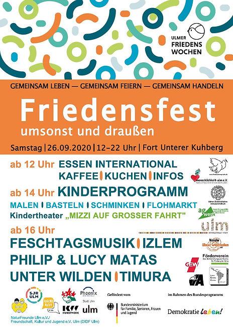 2020 ulm interkulturelles Friedensfest Kuhberg Programm