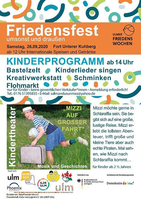 2020 ulm interkulturelles Friedensfest Kuhberg Kinder Kinderprogramm