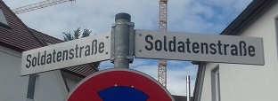 Die Soldatenstraße in Ulm, Weststadt