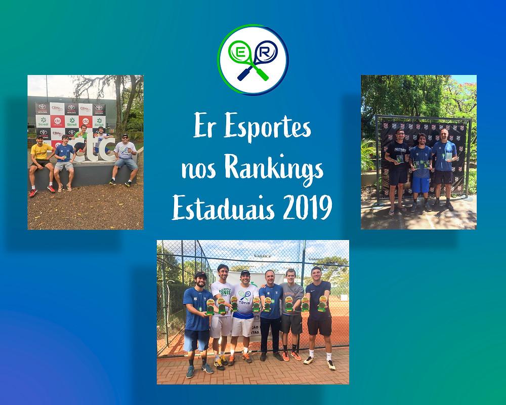 Alunos de Tênis da Er Esportes - Gravataí, com seus troféus. Torneios estaduais.