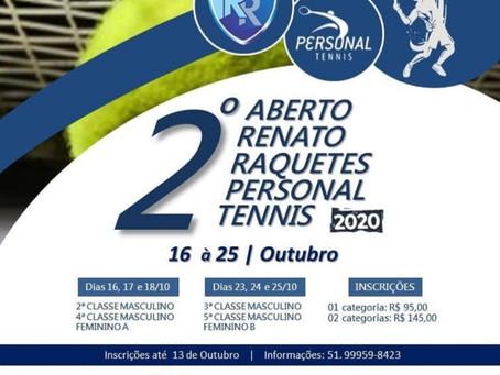2º Aberto Renato Raquetes Personal Tennis