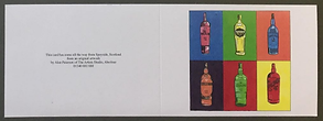Whisky Art Greetings Card