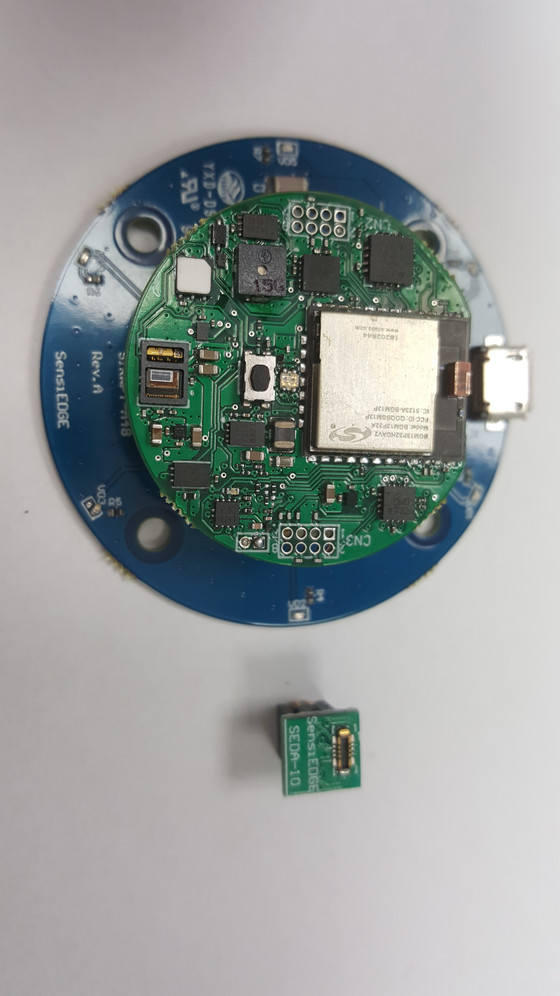 SensiTHING Environmental Monitoring Module with Wireless Charging Capability