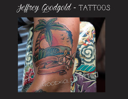 Traditional beach tattoo