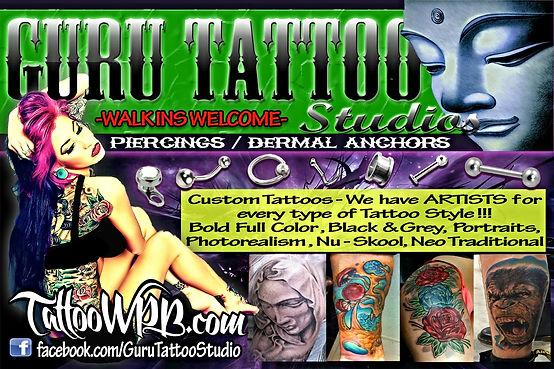 Arabic Tattoos Biomechanical Tattoos Black & Grey Tattoos Custom Tattoos Flash Tattoos Full Color Tattoos Japanese Tattoos Lettering Tattoos New School Tattoos Photo Realism Tattoos Pinup Tattoos Polynesian Tattoos Portrait Tattoos Trad