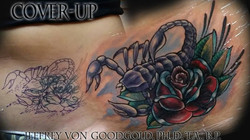 scorpion tattoo cover up