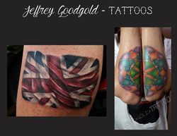 British flag & mandala tattoo