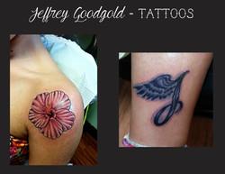 hibiscus & J tattoo