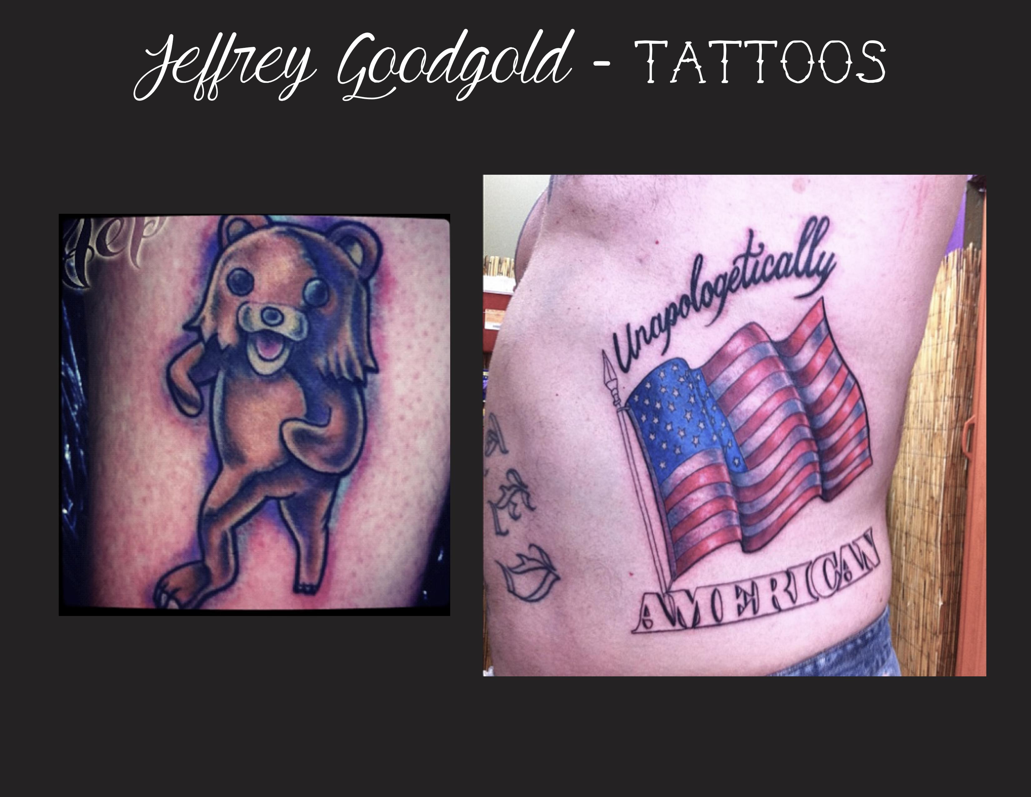 pedobear & flag tattoo