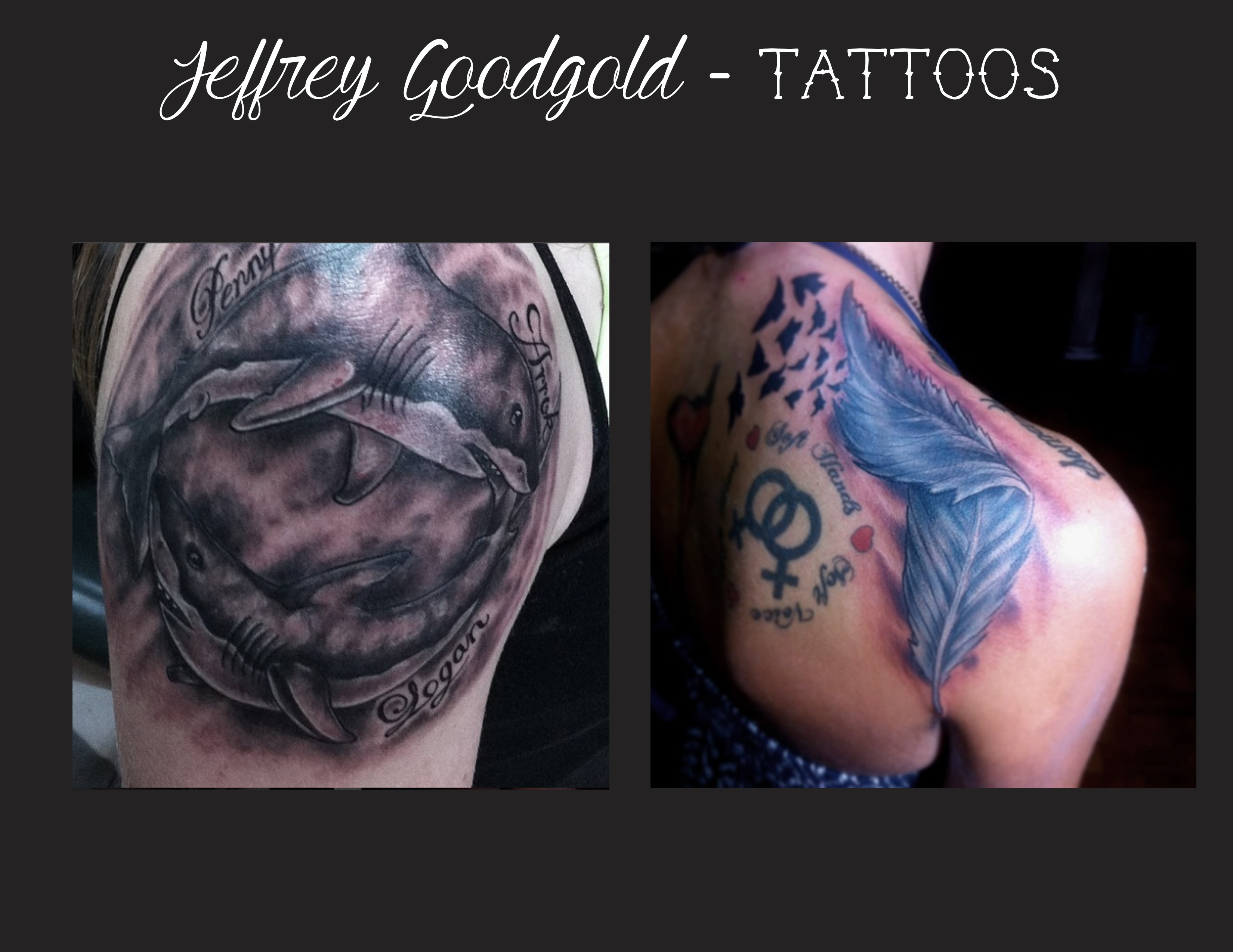 sharks & feather tattoo
