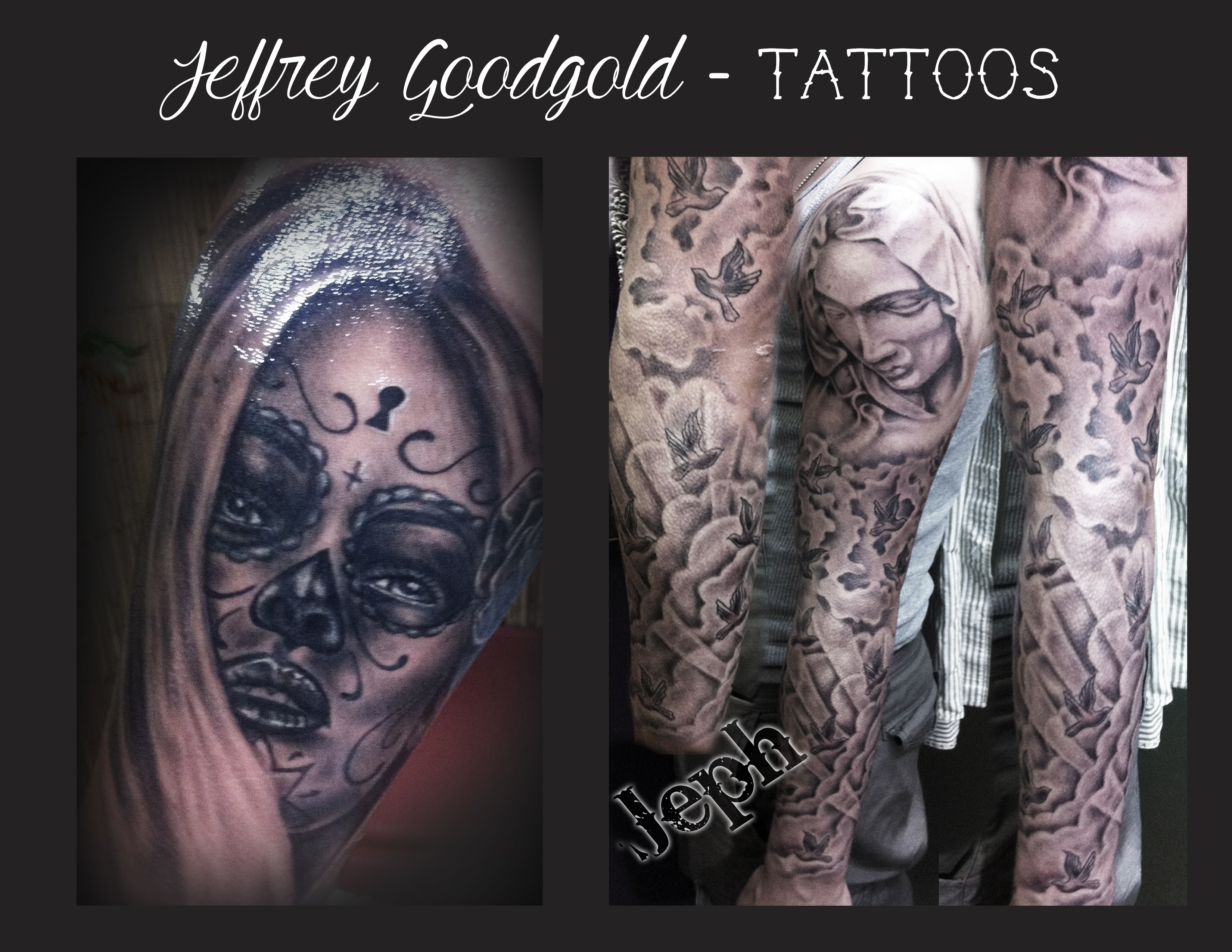 day of the dead & Mary tattoo