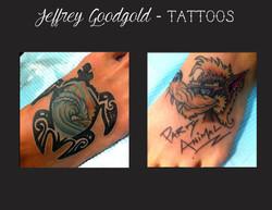 turtle wave & wolf tattoo