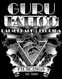 Guru Tattoo & Piercing Shop West Palm Beach Florida