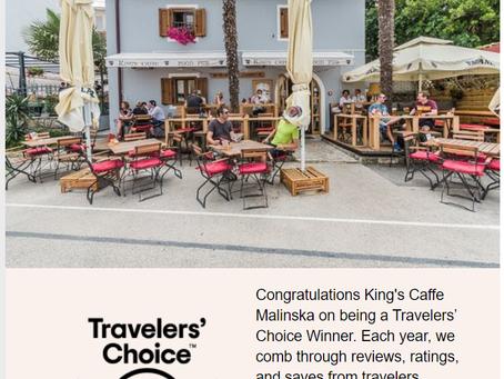 King's Caffe Malinska Wins 2020 Tripadvisor Travelers' Choice Award for top 10% of restaurants world