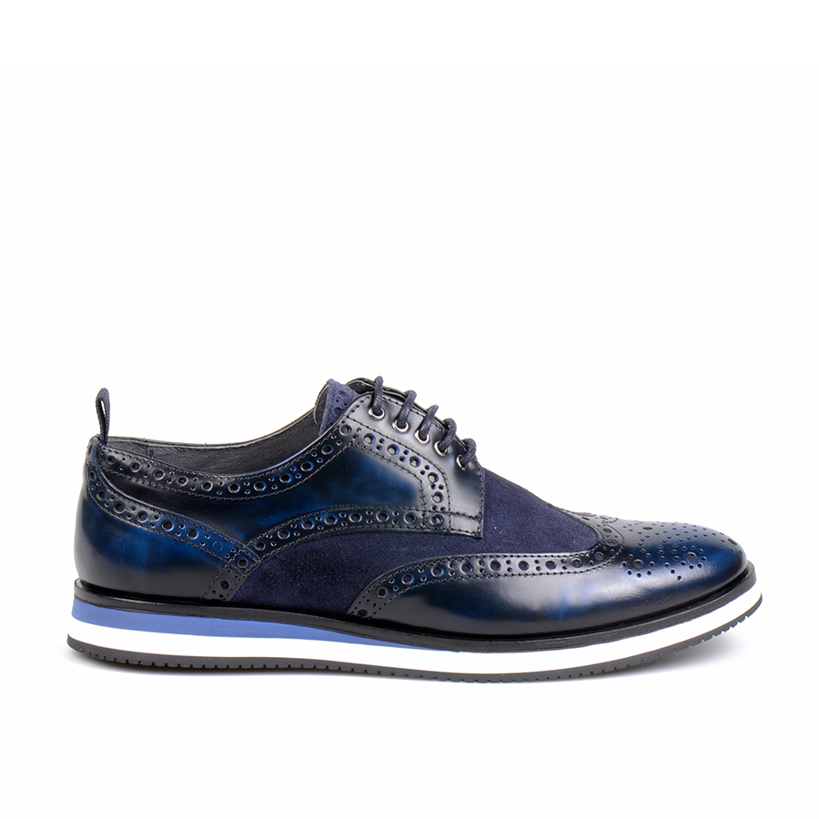 Infante Wingtip Polished Night Blue