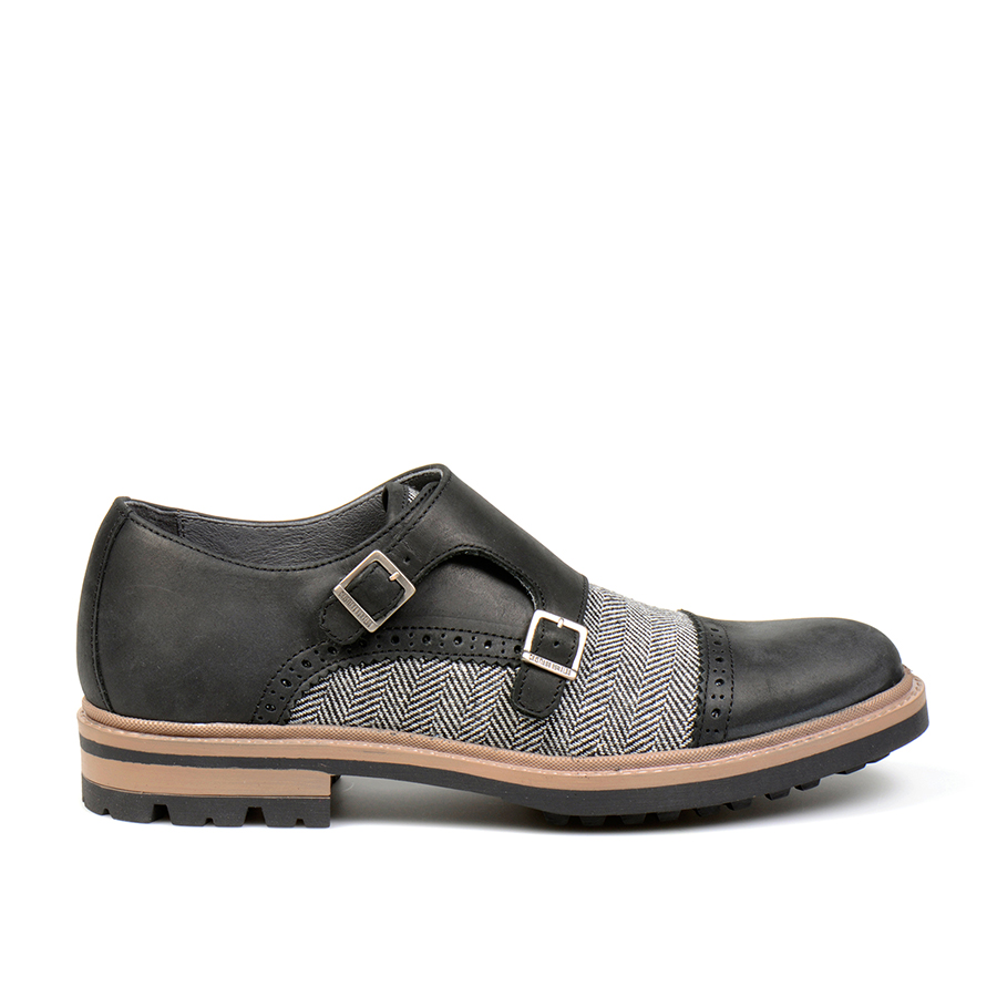 Ribeira Double monk Tweed Black (1).