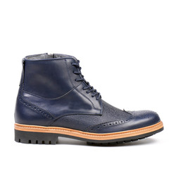 Toural Lace Up Boot Night Blue (1)