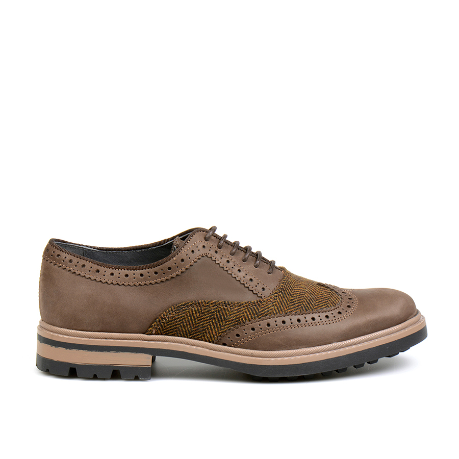 Alfandega Oxford Brogue Tweed Brown