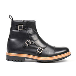 Mumadona Triple Monk Boot Black (1).