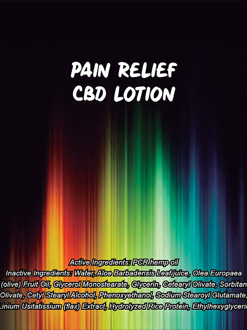 Pain Relief CBD Lotion
