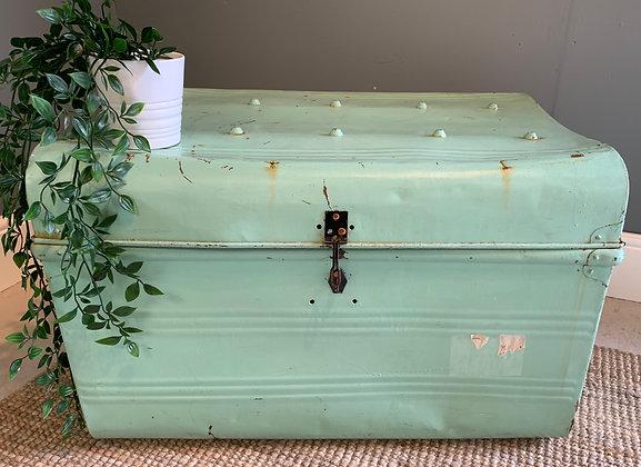 Vintage Painted Metal Trunk