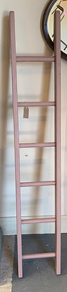 Rustic Pink Painted Garden Ladder