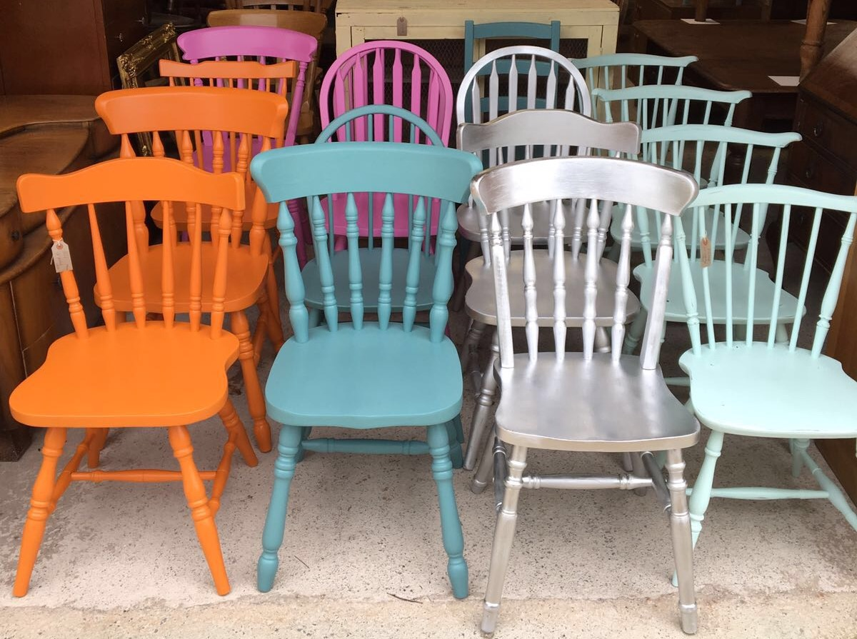 Chairs painted for a Cafe in London