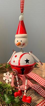 Christmas Metal Snowman Hanging Decoration