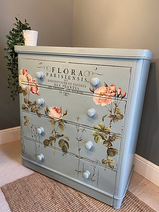 Large Vintage Painted Chest of Drawers