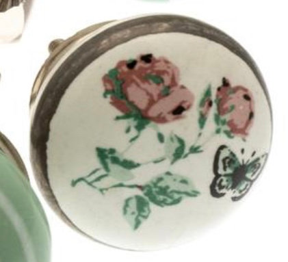 Ceramic Draw Knob - Floral