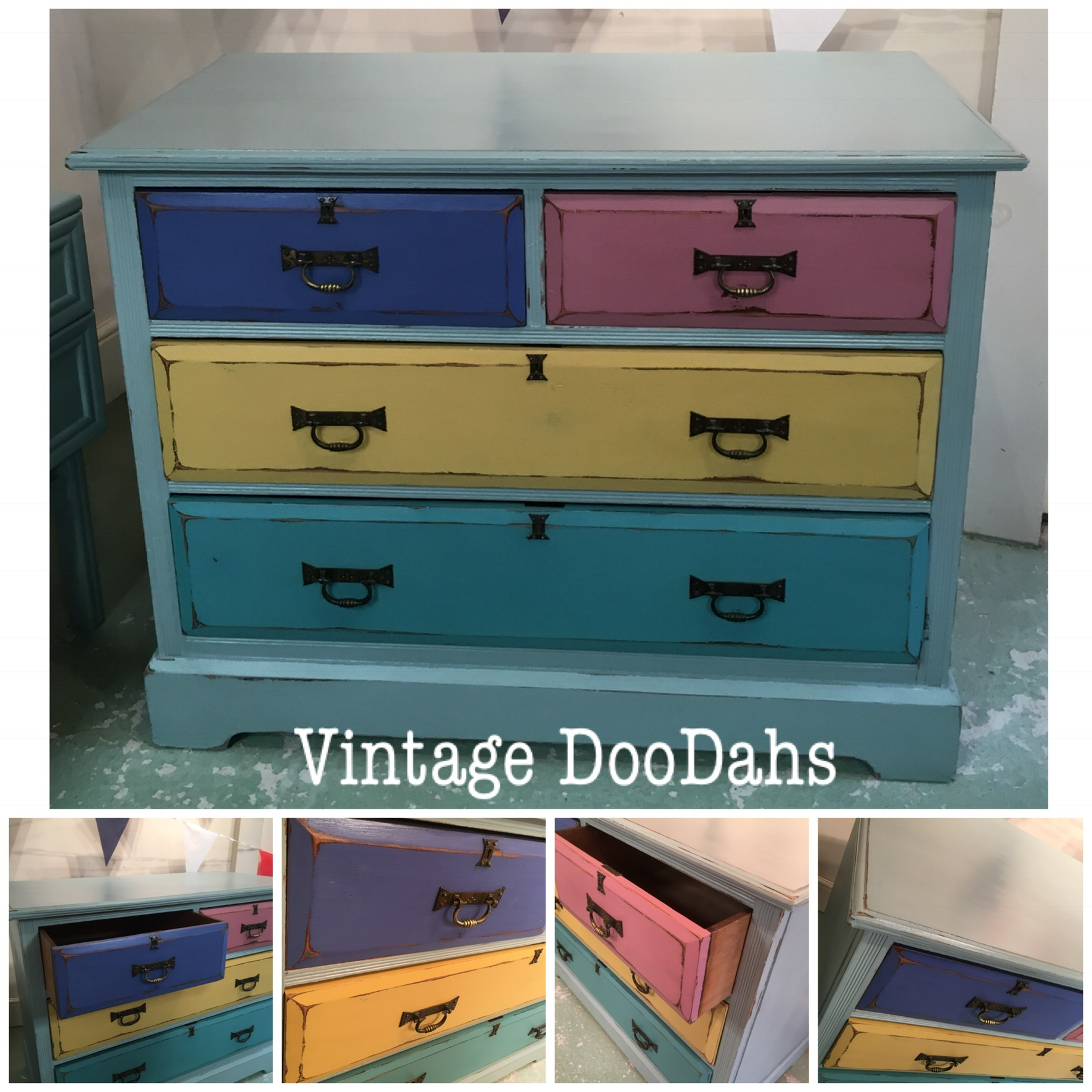 Solid Painted Chest of Drawers