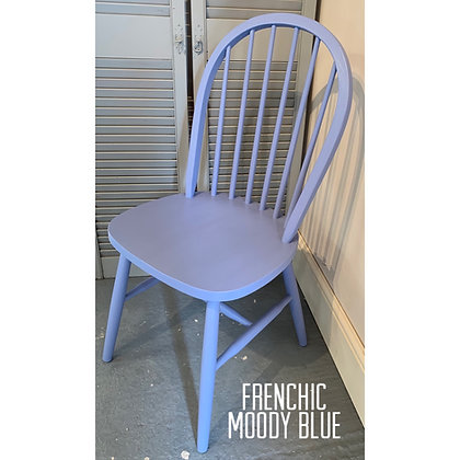 Mismatched Painted Chair - Moody Blue - Pastel Blue