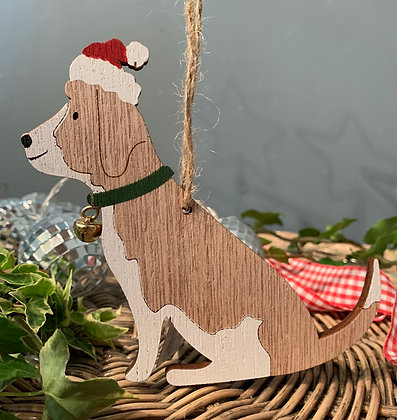 Christmas Beagle Dog Hanging Decoration
