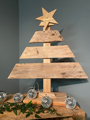 Handmade Rustic Reclaimed Wooden Small Christmas Tree
