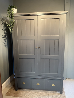 Large Chunky Painted Larder Cupboard