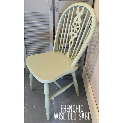 Mismatched Painted Chair - Wise Old Sage -Pale Green