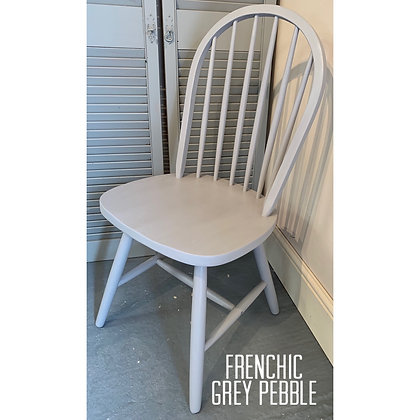 Mismatched Painted Chair - Grey Pebble - Grey