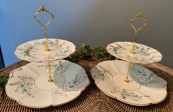 Pair of Vintage Two Tier Cake Stand (F)